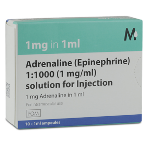 buy Adrenaline 1:1000 (1mg/ml) 10x1ml Ampoules online